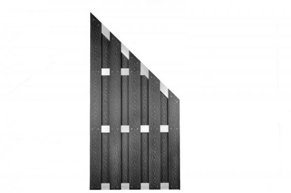 WPC Bretterzaun Abschluß Peking B90 x H180/90 cm, anthrazit