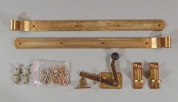 Einzeltorbeschlag für Holztore
