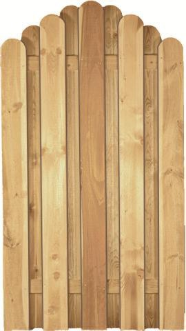Lattenzaun Korfu Bogen B100 x H180/160 cm