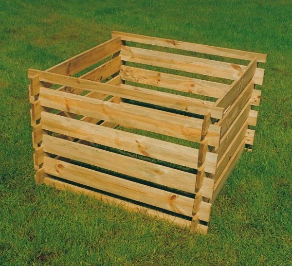 Komposter Holz - 100 x 100 x 70 - 700 L