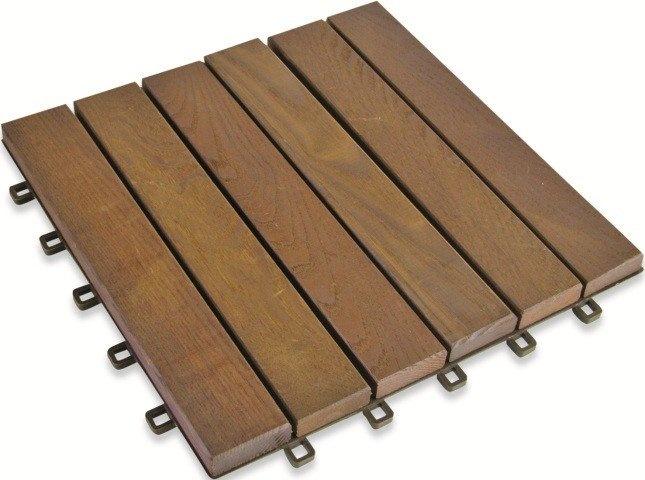 Holzfliese Esche 31 x 31 cm