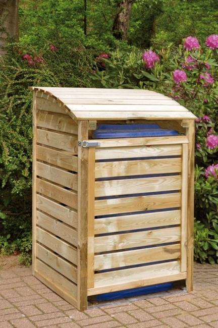 Mülltonnenbox für 1 Tonne, B75 x H120 x T90 cm, inkl. Rückwand