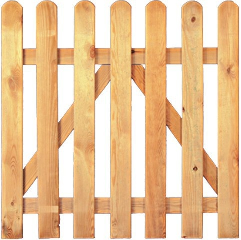 Tür für Gartenzaun B100 x H80 cm