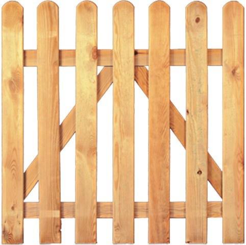 Tür für Gartenzaun B100 x H100 cm