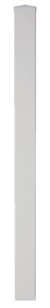 Pfosten aus Kunststoff 9 x 9 x 240 cm, weiß