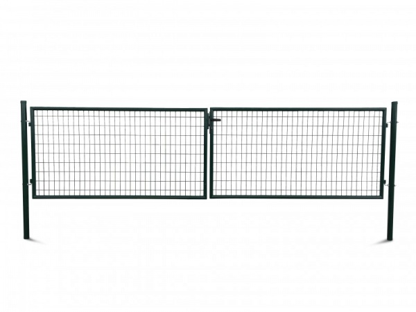 Metall Doppeltür Amrum B400 x H100 cm, grün