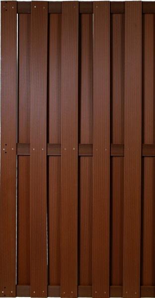 WPC Bretterzaun Dijon B90 x H180 cm, braun